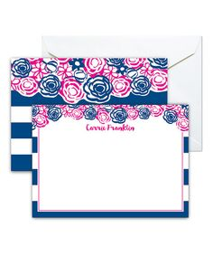 Look at this Navy Cabana Blossom Personalized Stationery - Set of 40 on #zulily today!