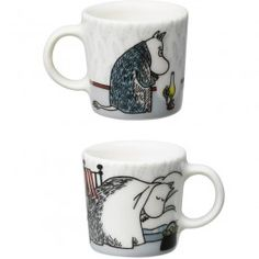 Arabia Moomin Decorative Mini Mugs 4 set, Hibernation, Winter Seasonal 2015, PRE ORDER