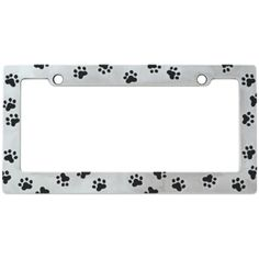 I LOVE MY DOG ROTTWEILER Soft Pink Metal License Plate Frame Tag Border