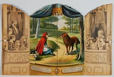 1891 Little RED RIDING HOOD Fold Out Stage CHILDRENS BOOK McLOUGHLIN BROS (06/24/2015)
