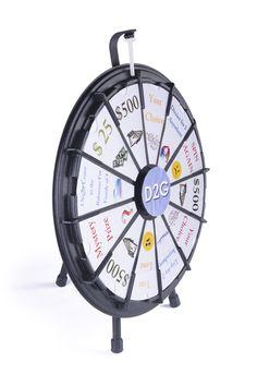 "26"" Prize Wheel with 12 Slots, Countertop - Black"