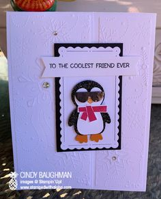 Teacher Appreciation Cards, Bicycle Cards, Slider Cards, Girl Birthday Cards, Easel Cards, Cute Penguins, Friendship Cards, Paper Pumpkin, Special People