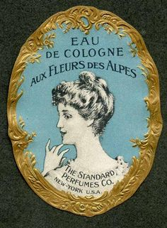 Victorian Cologne Labels   EAU DE COLOGNE Vintage Standard Perfumes Co Perfume Label (PER063)