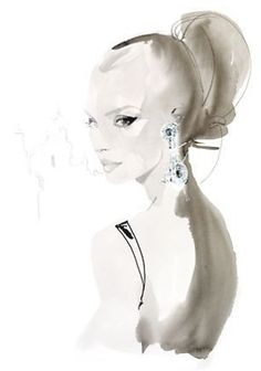 David Downton | David Downton fashion effect women watercolor | Flickr - Photo Sharing ...