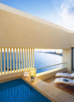 Presidential Suite Terrace of the Dreams Resort in Cancun