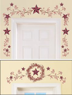 Country Primitive Stars & Berries Wall Decals | Let\'s make it OUR ...