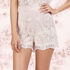LC Lauren Conrad Runway Collection Embroidered Shorts - Women's