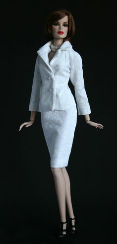 White Floral Suit by Chic Barbie Designs on Etsy