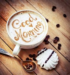 Cup with coffee and heart of coffee beans Fresh morning latte art coffee , Good Morning Happy Saturday, Good Morning Coffee, Good Morning Quotes, Coffee Break, Morning Images, Saturday Coffee, Saturday Saturday, Thursday, Saturday Images