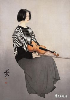 He Jiaying ). Painting People, Figure Painting, Chinese Prints, Chinese Contemporary Art, Japan Painting, Jimmy, China Art, Asian, Traditional Paintings
