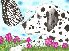Spots Dalmatian artwork drawing $99 - $149 size preference see website Artwork Drawings, Dalmatian, Website, Abstract, Summary, Dalmatians