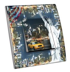 Interrupteur décoré Villes - Voyages / New York 5 simple - Decorupteur