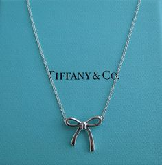 Tiffany  Co. bow necklace $125, beautiful for myself or for a gift!