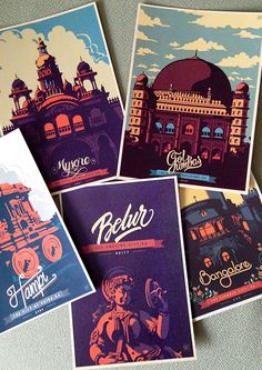 Travel Postcards & Posters on Behance