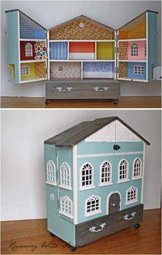 Grande Feuille sans joint Maison de poupées Qualité toit Papier