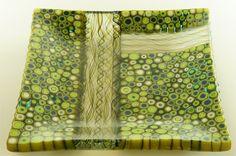 Art Glass - Murrine Square Plate
