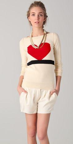 Sonia by Sonia Rykiel - Intarsia Heart Sweater    via shopbop