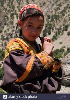 Traditional Kalasha girl, Chitral, Pakistan Stock Photo, Royalty Free Image: 14328187 - Alamy Free Images For Websites, Kalash People, Hindu Kush, Asian Kids, Kids Laughing, People Of The World, Diversity, Royalty Free Images, Pakistan