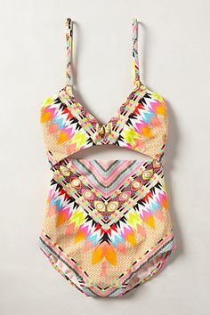 tribal print one piece