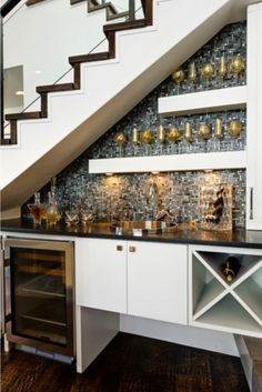 stair design with mini bar with cabinets : Under Stair Design With Mini Bar. bar under stairs ideas,built bar under stairs,house stairs design,mini bar under stair,stair design ideas Bar Under Stairs, Space Under Stairs, Kitchen Under Stairs, Under Basement Stairs, Under Staircase Ideas, Cabinet Under Stairs, Under Stairs Wine Cellar, Under Stairs Pantry Ideas, Living Room Under Stairs