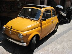 #Old #fiat #500 #yellow #italy #beautiful #car #fiat500 #retro #vintage