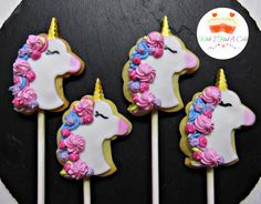 Unicorn Cookie Lollies by Wish I Had A Cake