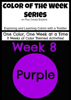 Color of the Week: Purple. Some neat activities and sensory bin ideas for exploring and learning about the color purple
