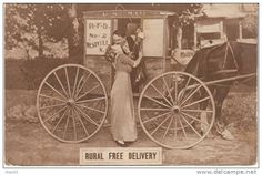 Making Free with the Rural Free Deliveryman Mail Delivery, Free Delivery, Old Mailbox, Horse Drawn Wagon, Going Postal, World Music, Historical Photos, Art Reference, Horses
