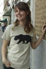 Women's T-shirt sand beige - Short sleeve - spring style fashion @ Black Bear Trading Asheville N.C.