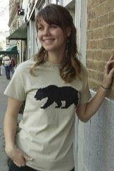 Women's T-shirt sand beige - Short sleeve - spring style fashion @ Black Bear Trading Asheville N.C.
