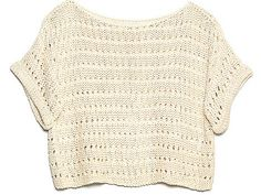 "Eco-Friendly, Flirty Fashion Pieces For Earth Day: Hand-crafted by a ""gang of knitters"" in Peru and made from 100 percent ""shiny happy cotton"", this cozy cropped sweater can be worn with all of your essential bottoms, and makes a for a chic cover-up when you're looking for a little extra warmth or planning a day at the beach."