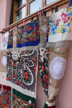 Scarf Curtain Gypsy Curtain Boho Panels REadY To by cocomiahome