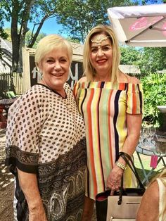 PUNJAB Party - Matriach Bev and ME in stripes
