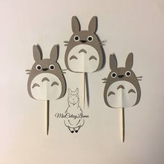 Cupcake Toppers Set of Totoro-My neighbor totoro-Totoro party- Baby Shower-First Birthday-Pirthday theme-Party Decor-Party Supplies Baseball Birthday Party, 2nd Birthday Parties, Baby Birthday, Construction Party Decorations, Circus Decorations, Wedding Tree Guest Book, Tea Party Theme, Nautical Party, Baby Supplies