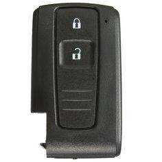 2 botones inteligentes remoto de entrada sin llave caso ajuste cáscara dominante para toyota prius fob