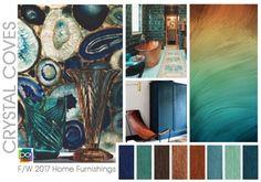 From Design Options, a fabulous CA-based color forecasting company: a… Scheme Color, Colour Schemes, Home Decor Colors, Colorful Decor, Winter 2017, Fall Winter, Palette Design, Color Trends 2018, 2018 Color