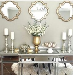 Fall Apartment Decor, Fall Entryway Decor, Fall Home Decor, Autumn Home, Entryway Tables, Gray Gold Bedroom, Grey Room, Living Room Decor Gold, Silver Living Room
