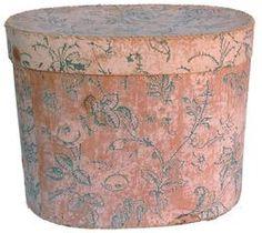 "19th century early wallpaper box. circa 1870,  14 1/2"" long x 12"" deep x 11"" tall"