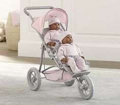 Double Doll Jogging Stroller #pbkids
