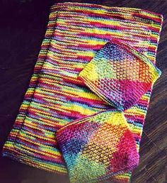 Free - Easy Kitchen Towel And Matching Dish Cloth Knitting Pattern
