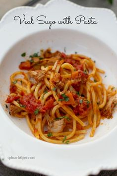Italian Sauce Recipe with Veal, Tomato, White Wine | Spinach Tiger