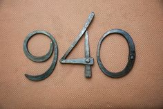 Custom Made Hand Forged House Numbers by Organic Iron Concepts | CustomMade.com