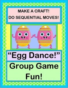 What happens to 'Dancing Eggs' when they roll, bounce, tilt, and twirl? Do this ACTIVE RHYME and GROUP ACTIVITY with your kids, and they will find out! Make the PAPER EGG CRAFT with your kids. Then take those cute 'eggs-in-nests' on the road for some SEQUENTIAL DIRECTED MOVEMENTS! (8 pages) From Joyful Noises Express TpT! $