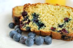 Easy to make blueberry Orange Juice Bread has delicious citrus flavor and is made with greek yogurt for added moistness. Great for breakfast or snacking.