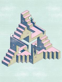 Marcos Figueiredo aka Velckro Artwork is a freelance graphic designer and art director based in Madrid, Spain. Isometric Art, Isometric Design, Graphic Design Illustration, Illustration Art, Mc Escher, Freelance Graphic Design, Detail Art, Technical Drawing, Op Art