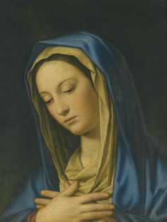 Giovanni Battista Salvi, called Sassoferato Madonna at Prayer Blessed Mother Mary, Blessed Virgin Mary, Virgin Mary Art, Religious Images, Religious Art, Images Of Mary, Mama Mary, Queen Of Heaven, Our Lady Of Sorrows