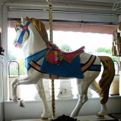 Decorative Vintage Fiberglass Carousel Horse Full Size   eBay
