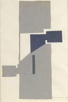 Gertrude Greene Untitled (1939-X1), 1939 (Collage on paper, 13 1/2 x 9 1/2 inches) Spanierman Gallery, NYC