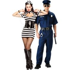 1000+ images about Halloween Costumes ) on Pinterest .  sc 1 st  jokohok & Cop And Prisoner Halloween Costumes
