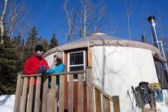 Book a yurt during winter for a complete change of scenery in the middle of Quebec's nature. Jacques Cartier, Bas Saint Laurent, Destinations, Scenery, Fair Grounds, Canada, Adventure, Winter, Travel